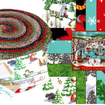 Winter Wonderland Moda Jelly Roll - Ingrid-0