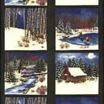 Winter in the Pines FLANNEL Fabric Panel - Forest 6440 15F-0