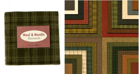 """Wool Needle Flannels 5"""" Charm Pack-0"""