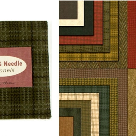 "Wool Needle Flannels 5"" Charm Pack-0"