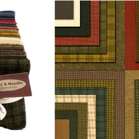 Wool Needle Flannels Fat Quarter Bundle -0