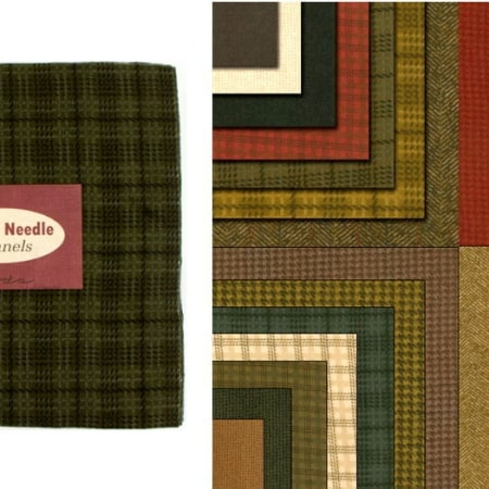 Wool Needle Flannels Moda Layer Cakes-0
