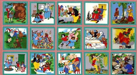 Fairy Tale Friends Fabric Panel - Nursery Rhyme Panel-0