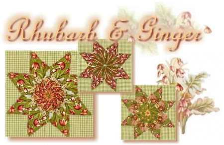 Rhubarb & Ginger Country Meadow Stars Kaleidoscope Quilt Kit-0