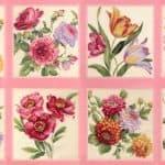 Felicity Fabric Panel - Rose-0