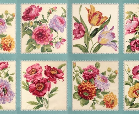 Felicity Fabric Panel - Aqua-0