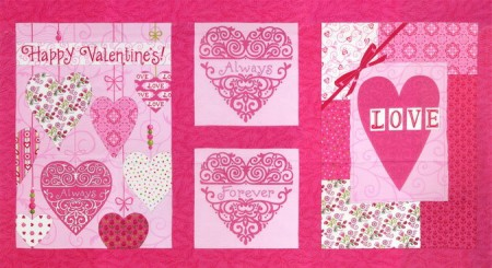 Always and Forever Fabric Panel Pink-0