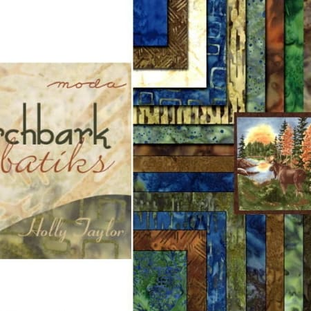 "Birch Bark Lodge BATIKS 5"" Charm Pack-0"