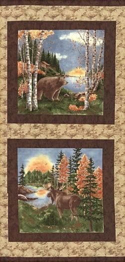 Birch Bark Lodge Fabric Panel-0