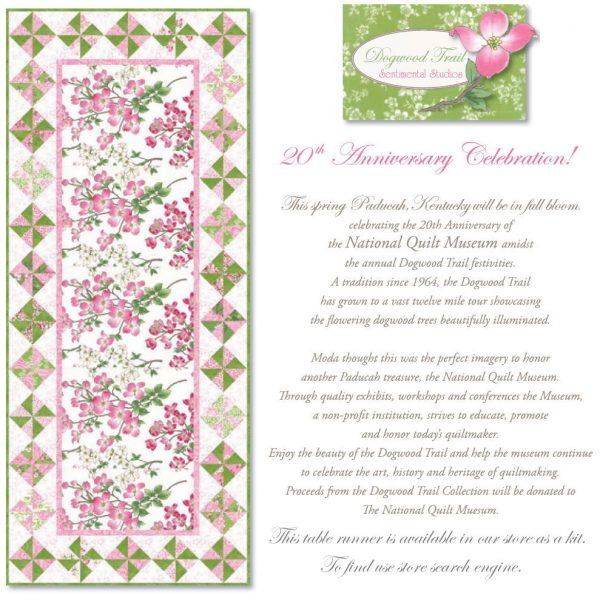 Dogwood Trail Table Runner Kit-0