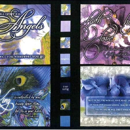 Beautiful Blessings Fabric Panel - Jewel-0