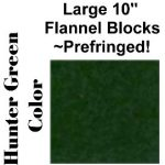 "10"" Flannel Squares Prefringed - Hunter Green-0"
