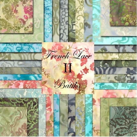 "French Lace II Batiks 5"" Charm Pack-0"