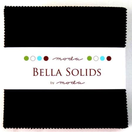 "Moda Bella Solids BLACK - 5"" Charm Pack-0"