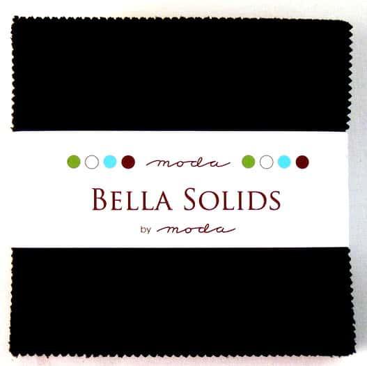 "Moda Bella Solids BLACK - 5"" Charm Pack-0"