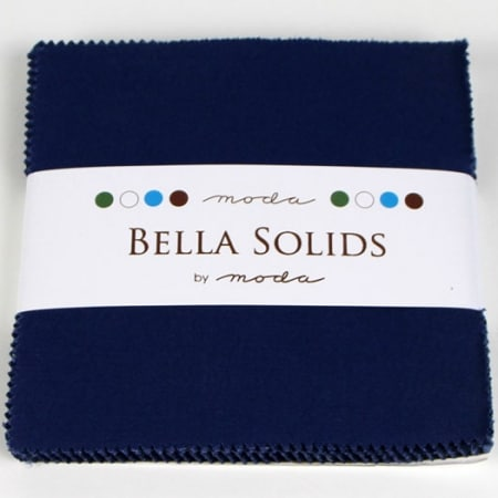 "Moda Bella Solids BLUE - 5"" Charm Pack-0"