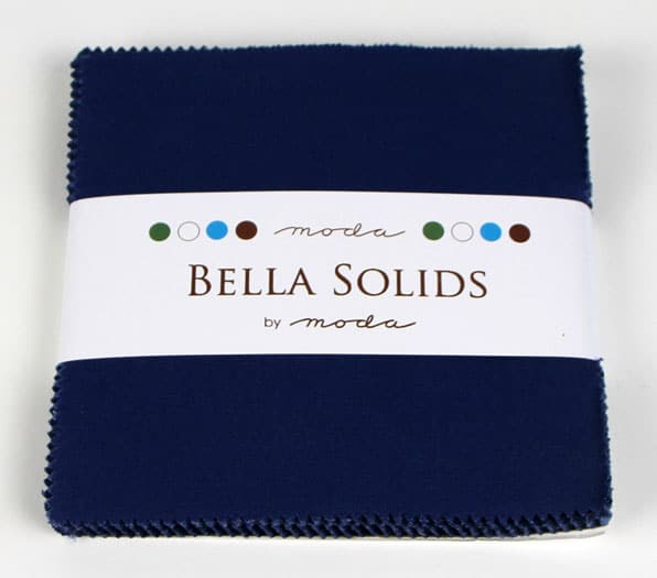 "Moda Bella Solids BLUE - 5"" Charm Pack-0"