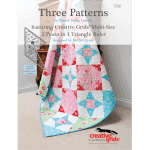 Three Patterns featuring Creative Grids Multi-Size 2 Peaks in 1 Triangle Ruler-0