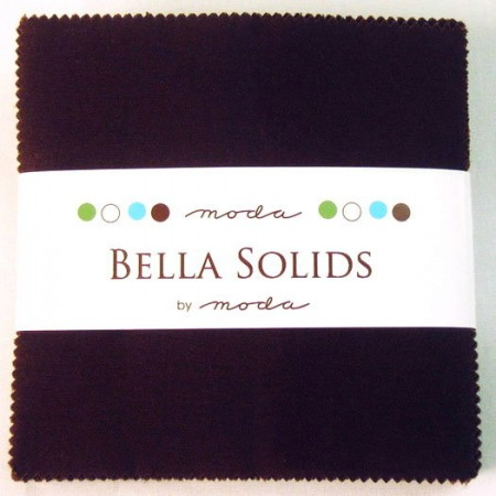 "Moda Bella Solids BROWN - 5"" Charm Pack-0"