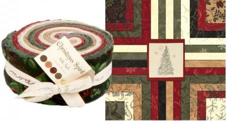 Christmas Spirit Moda Flannel Jelly Roll-0