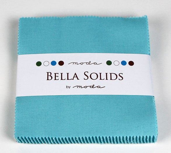 "Moda Bella Solids EGG BLUE - 5"" Charm Pack-0"