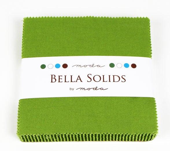 "Moda Bella Solids LEAF GREEN - 5"" Charm Pack-0"