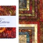 """Love Letters Batiks 5"""" Charm Pack-0"""