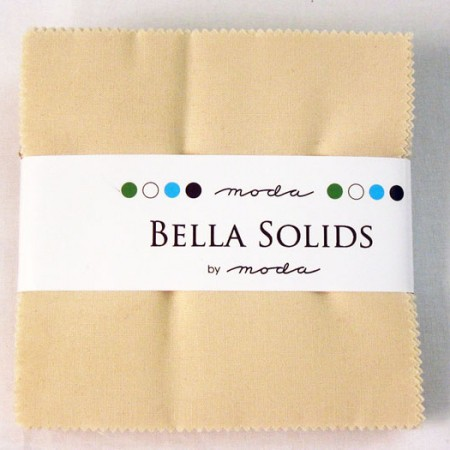 "Moda Bella Solids NATURAL - 5"" Charm Pack-0"