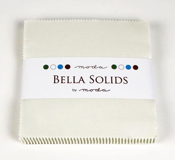 """Moda Bella Solids PORCELA - 5"""" Charm Pack-0"""