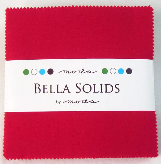"Moda Bella Solids RED - 5"" Charm Pack-0"