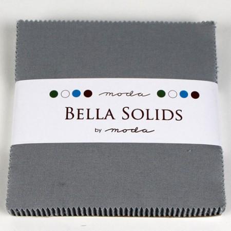 "Moda Bella Solids SILVER - 5"" Charm Pack-0"
