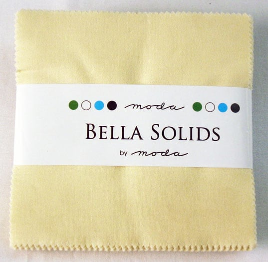 "Moda Bella Solids SNOW - 5"" Charm Pack-0"