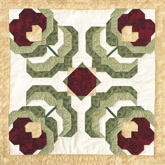 Baltimore Poppy Block Pattern-0