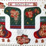 Holiday Hugs Panel - Pre-QUILTED Christmas Stockings & More! -0