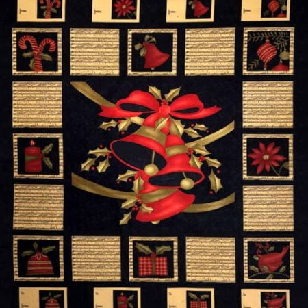 Merry Medley Fabric Panel - Ebony-0