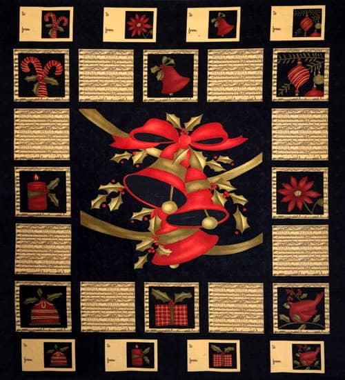 Merry Medley Fabric Panel - Ebony-0