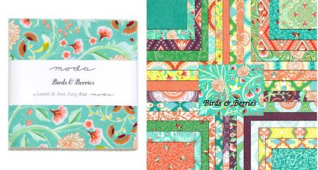 "Birds and Berries 5"" Charm Pack-0"