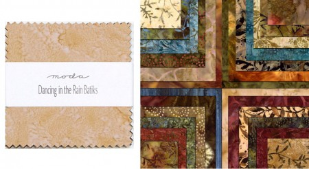 "Dancing in the Rain Batiks 5"" Charm Pack-0"