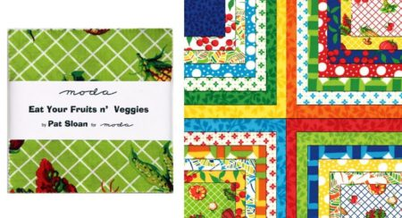 """Eat Your Fruits and Veggies 5"""" Charm Pack-0"""