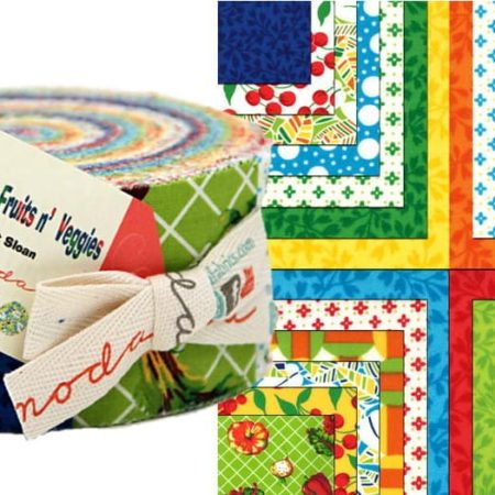 Eat Your Fruits and Veggies Moda Jelly Roll-0