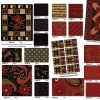 Merry Medley Fabric Panel - Ebony-13823