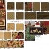 Merry Medley Fabric Panel - Ebony-13822