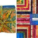 Over the Rainbow Batiks Fat Quarter Bundle - Blue-0
