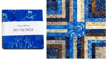 "Snow Day Batiks 5"" Charm Pack-0"
