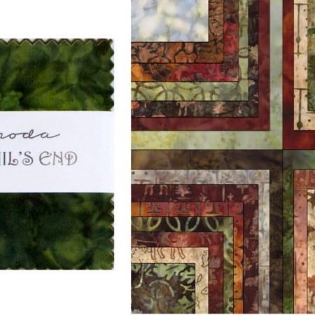 "Trails End Batiks 5"" Charm Pack-0"