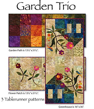 Garden Trio Tablerunner Patterns-0
