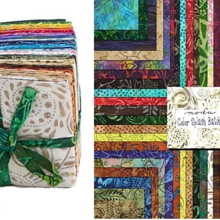 Color Splash Batiks Fat Quarter Bundle-0