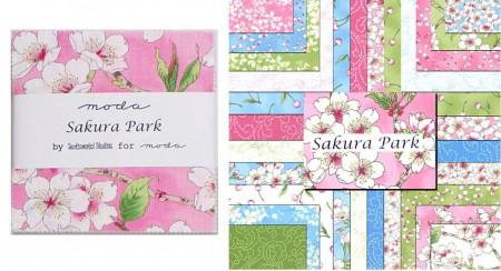 """Sakura Park 5"""" Charm Pack-0"""