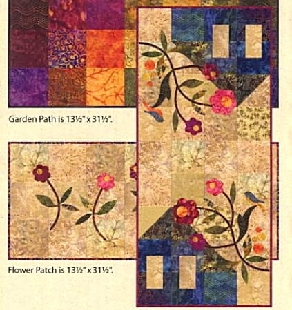 Garden Trio - 3 Table Runner Quilt Kits-0