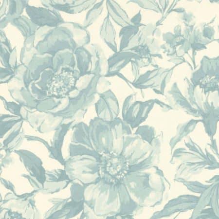 Felicity - Tonal Bloom Ivory Aqua-0